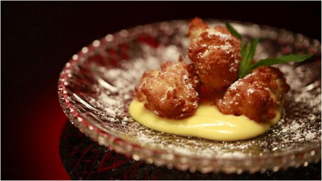 Brioche doughtnuts with elderberry curd recipe