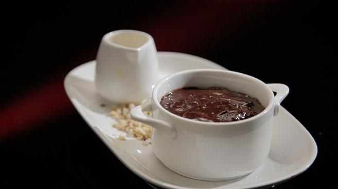 Annie and Llyod's Chocolate Pudding with Salted Caramel Ice-cream Recipe