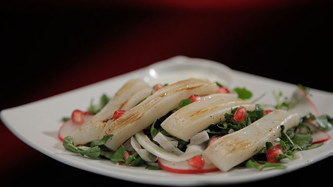 Annie and Llyod Grilled Squid with Fennel and Pomegranate Salad Recipe