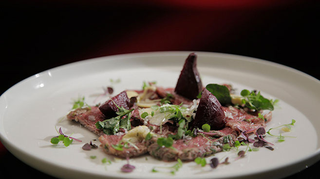 Sheri and Emilie Beef Carpaccio with Truffle Mayonnaise recipe