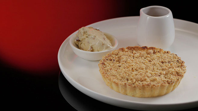 Will & Steve Apple Tart with Rum and Raisin Ice-Cream and Butterscotch Sauce Recipe.