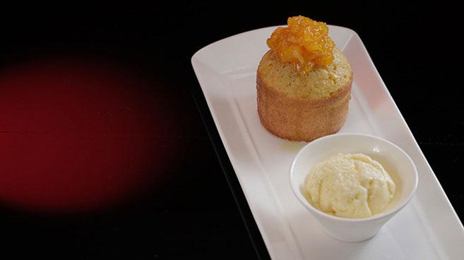 Eva & Debra's Singaporean Sugee Cake with Orange Ice-Cream Recipe.