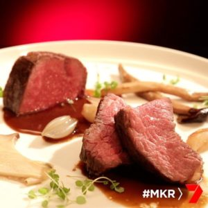 Beef Sirloin with Madeira Jus and Mushrooms