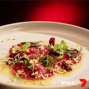 Beetroot and Goats' Cheese Ravioli with Sage Butter
