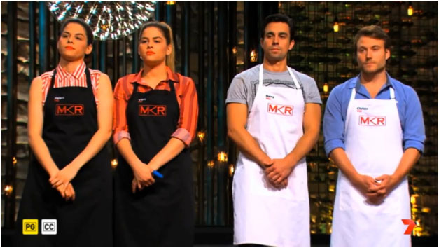 MKR Helena and Vikki, Harry and Christo Elimination