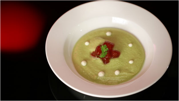 Paul and Blair's Wasabi and Avacado Soup