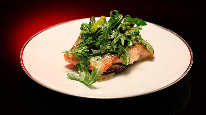 Emma and Jane MKR Salmon Crispy Potato Stack Recipe