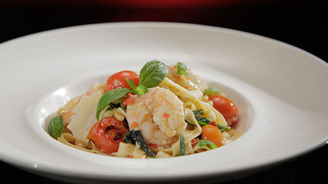 Sheri & Emilie Prawn Linguine Recipe