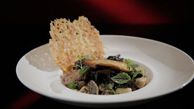 Ash and Camilla Braised Mushrooms with Ricotta Gnocchi Recipe.
