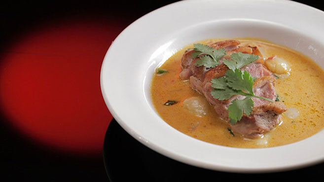 Eva & Debra's Red Duck Curry with Lychees Recipe.
