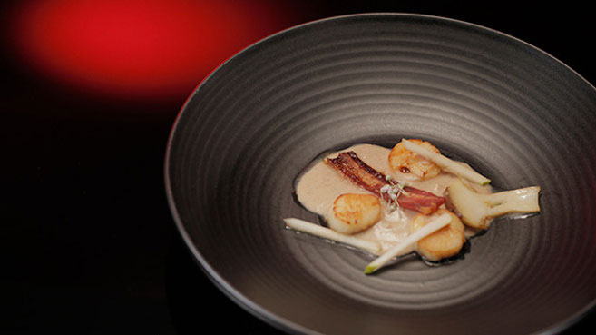 Drasko & Bianca Seared Scallops with Chestnut Velouté Recipe