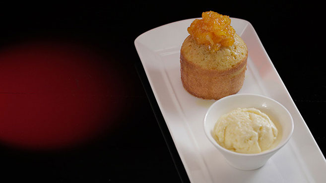 Eva & Debra's Singaporean Sugee Cake with Orange Ice-Cream Recipe.