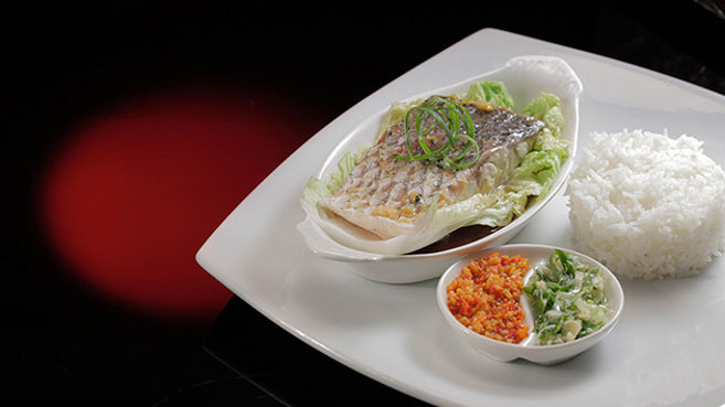 Eva & Debra's Steamed Barramundi with Chilli, Spring Onion and Ginger Recipe.