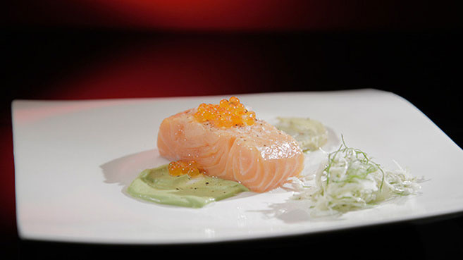Jac & Shaz Confit Salmon with Roasted Fennel and Avocado Mousse Recipe