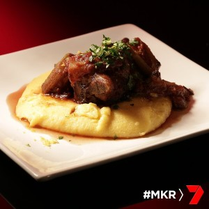 oven baked lamb shanks with soft polenta and gremolata