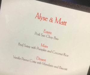 Alyse and Matt Instant Restaurant Scores